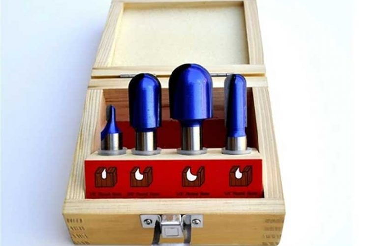 Straight And Round Nose Router Bits